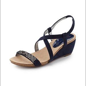 NWT Anne Klein iFlex Wedge Sandals Akjasia Size 10